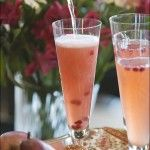 Pear and Pomegranate Bellinis