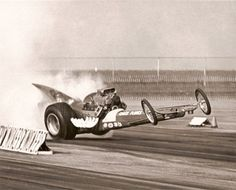 VINTAGE DRAG RACING - Whoa Nelly...on one back tire