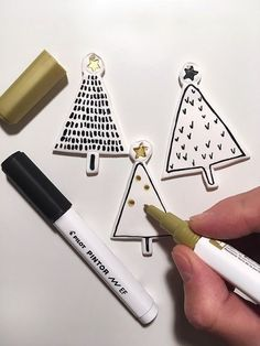 DIY: polymer clay tree decorations for Christmas * fimo christmas ornam .- DIY: Fimo tree decorations for Christmas * Fimo christmas ornaments - Clay Christmas Decorations, Diy Christmas Ornaments, Homemade Christmas, Holiday Crafts, Christmas Holidays, White Christmas, Modern Christmas, Christmas Trees, Merry Christmas