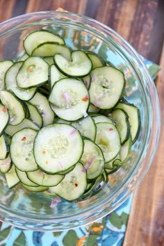 Sweet and tangy fridge-marinated cucumbers are the perfect summer side dish or topping for salads, lettuce wraps, and meat dishes.