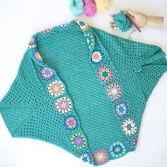 wishing I'd made it wider though so will add sleeves now Crochet Cocoon, Crochet Jumper, Crochet Poncho Patterns, Crochet Shawl, Easy Crochet, Knit Crochet, Shrugs And Boleros, Add Sleeves, Modern Crochet