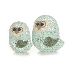crochet owl box by melinda