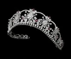 Light Amethyst Purple Quinceanera, Mis Quince Anos, Prom Tiara with Swarovski Crystals