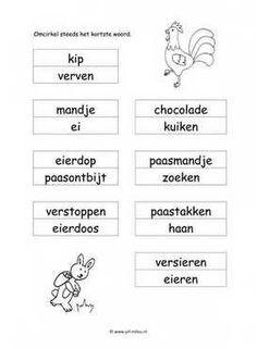 Werkbladen taal - pasen ~ Juf Milou Preschool, Math Equations, Pdf, Image, Website, Preschools, Senior Year, Kindergarten, Day Care