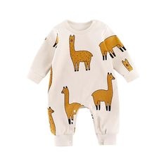 8c7e0fee86ff Oh My Llamas Cotton Romper 3 - 18M – Bitty Botty Baby Baby Outfits Newborn