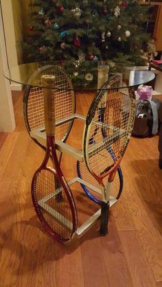 Tennis racket table