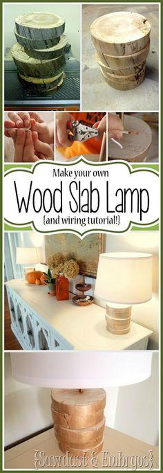 DIY Wood-Slab Lamp and Wiring Tutorial {Sawdust and Embryos}