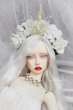 Unicorn Heart OOAK flower crown handmade headband headdress