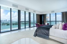 Dream Bedroom with View, Bentley Bay's Essential Miami Beach Penthouse - Decorextra