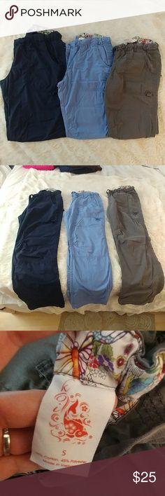 Koi Lindsey style scrub pants Navy blue, light blue, and grey koi scrub pants. Gently worn. Koi Pants