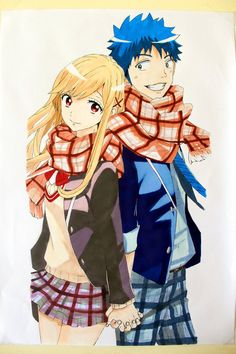 My anime recommandation for schoollife fan!!!! Good story, good character, good graphics, lovely music and a little of magic. Well this the last time i used marker for checked clothes, i'm so...