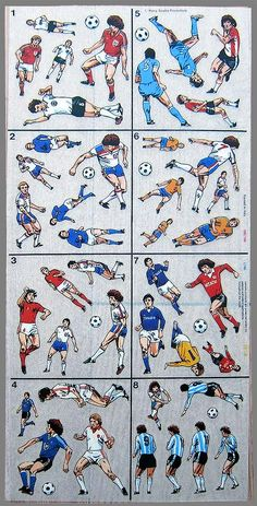 World Cup '82 Transfers - Soccer Skills with Kevin Keegan - Letraset
