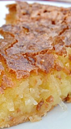 French Coconut Pie {recipe} I think this just might be my Christmas dessert! Sweet Recipes, Cake Recipes, Dessert Recipes, French Recipes, Recipes For Bread Pudding, Easy Pie Recipes, Cream Pie Recipes, Healthy Recipes, Baking Recipes