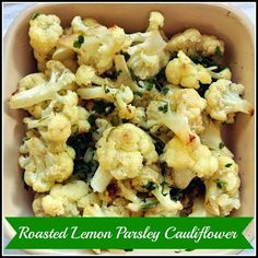Roasted Cauliflower with Lemon-Parsley Dressing