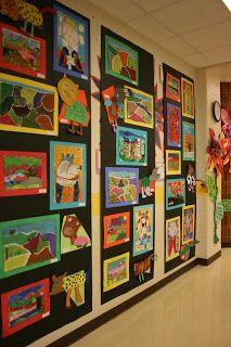 Family Art Night - art show + art activities Ideas Decoracion Salon, Hallway Displays, Art Anime, Art Classroom, Classroom Ideas, Preschool Art, Art Club, Art Plastique, Art Activities