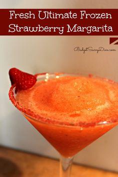 Fresh Ultimate Frozen Strawberry Margarita Recipe