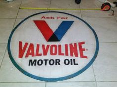 VALVOLINE MOTOR OIL Metal Gas Station Display Advertisement Store Sign For.  Auctions starting at a Penny!  Click the image above to view!