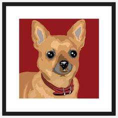 Pop Art Chihuahua Brown, $39, now featured on Fab.