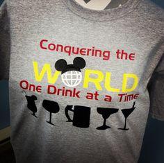 Epcot Disney World Drinking Around the World shirt by OnceUponATeeShop on Etsy https://www.etsy.com/listing/193324155/epcot-disney-world-drinking-around-the