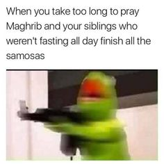 With a little imagination, Ramadan Kareem can sorta rhyme with 'dank meme'. Funny True Quotes, Crazy Funny Memes, Stupid Funny Memes, Funny Relatable Memes, Funny Stuff, Lol Memes, Stupid Quotes, Funniest Memes, Wtf Funny