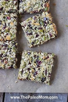 https://paleo-diet-menu.blogspot.com/ #PaleoDiet Ask and ye shall receive. Well, if you're my sister-in-law–who e-mailed me a couple of weeks ago with a plea for help. She needed a granola bar recipe that was gluten-free, nut-free, and dairy-free to go to a nut-free school with her daughters and accommodate her daughters' food sensitivities. (Clearly, any recipe I come up …