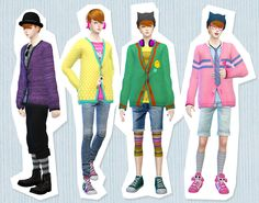 [Mens Cardigans] DOWNLOAD/MediaFirere-color and re-mesh by me/Original mesh is EA. 12 colors / thank you for all CC creaters. you can use it as you want.please enjoy it. ガタガタだったりと拙いですがよければどうぞ...