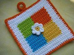pega cozinha em crochet