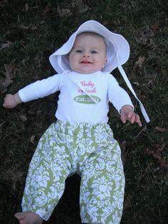 Baby Established Onesie and Handmade Lounge Pants Personalized, $39.99