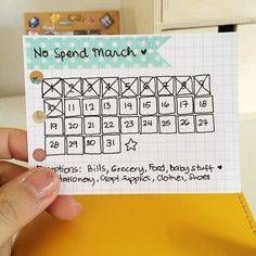 A no spend month... I need to do this too