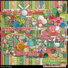 Gone Golfing by Clever Monkey Graphics - Digital scrapbooking kits available through Oscraps, GingerScraps, or MyMemories