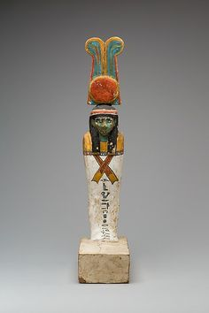 Wood, gesso, and paint funerary figure. Late Peirod, Kushite. 25th dynasty, c. 712-664 B.C. | The Metropolitan Museum