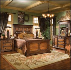 decorating western bedroom | in your bedroom with the handcrafted, solid wood American West Bedroom ...