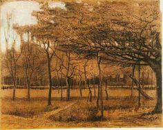 Van Gogh. Landscape with trees. 1881