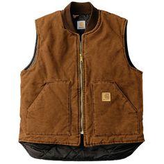Carhartt Sandstone Duck Vest - Insulated (For Men) in Carhartt Brown