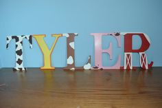 Hand Painted Nursery Letters (farm Theme)