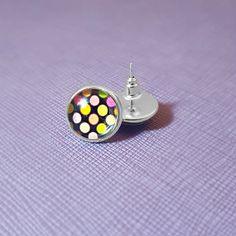Black Rainbow Spot Polka Silver Plated  by NicolesJewelleryAUS #Nicolesjewellery #handcraftedjewellery #etsyaustralia #etsystore #etsyseller #etsyau #NewDesigns #BuyNow #AvailableNow #Jewellery #Ring