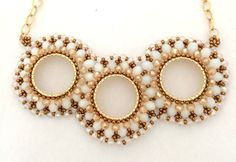 Beaded Necklace For Mary Ann by Ranitit on Etsy