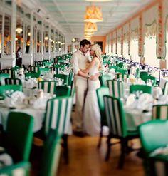 Emerald chairs make a bold statement at wedding receptions #emerald #wedding