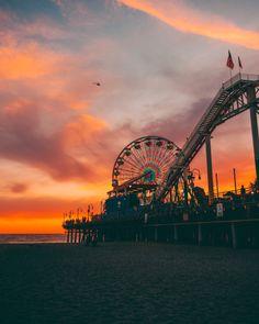 Santa Monica Pier in California. RePinned by : www.powercouplelife.com
