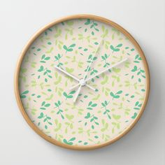 Leaves - Wall Clock by Sunshine Inspired Designs