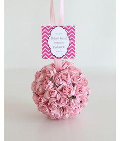 Çiçek Topu Nikah Şekeri (Pembe)