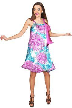 Floral Bliss Melody Swing Halter Chiffon Dress - Women