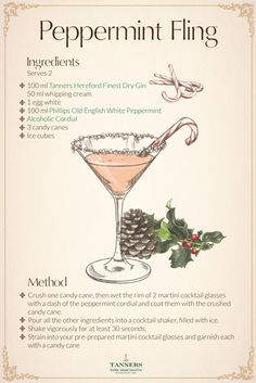 One of the most #festive flavours is #peppermint, that's why we've put together this peppermint fling #cocktail #recipe.