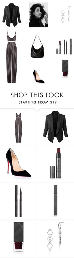 """""""Night at the Club Outfit #7"""" by cherryflame14 ❤ liked on Polyvore featuring Movado, LE3NO, Christian Louboutin, Burberry, Edge of Ember and Marc Jacobs"""