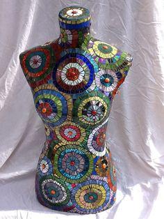 Mosaic mannequin Mona by RuthSosaBaileyMosaic on Etsy, $1500.00