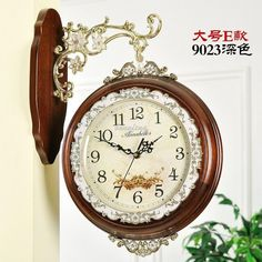 Tick-tock unusual wall clock, various shapes of unusual wall clocks and unusual wall clocks for sale of different styles, all 100% real picture, double-sided wood wall clock living room european-style table clock retro luxury mute creative decorative quartz watch la can be found in bangfeng, choose your favorite one!