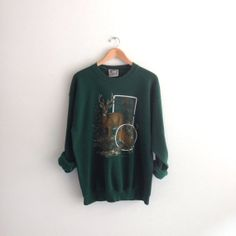 80s vintage Deer animal Sweatshirt by louiseandco on Etsy, $25.00
