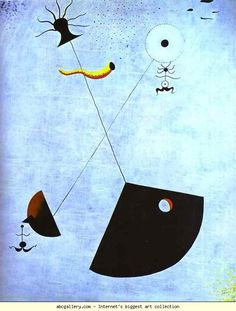 1924 Joan Miro (Spanish Surrealist Painter and Sculptor, Maternity Art Gallery, Art Works, Miro Paintings, Abstract Expressionism, Art Painting, Surrealist, Painting, Art, Abstract