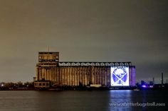 Sabres logo on Grain Mills ~ Buffalo, NY