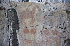 Agawa Rock pictographs, Lake Superior.
